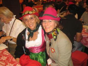 Barbara Schöne mit Tochter im Hippodrom