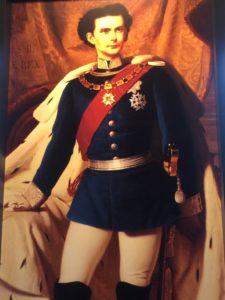 König Ludwig II. von Bayern im Krönungsornat
