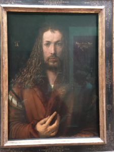 Self-Portrait of Albrecht Duerer in a fur coat