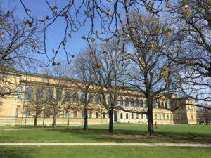 Die wieder aufgebaute Alte Pinakothek