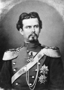 König Ludwig II. von Bayern, Fotografie von Franz Hanfstaengl, 1876