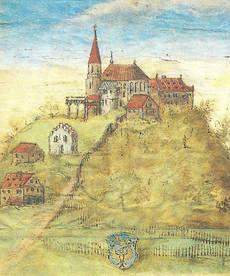 """Der """"Heilige Berg"""" mit der Wallfahrtskirche St. Nicholaus in Andechs"""