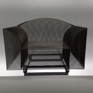 Designer-Sessel aus Metallgeflecht