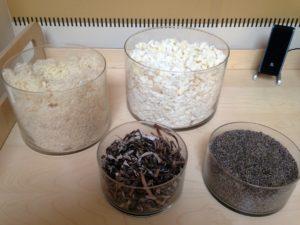 Inhaltsstoffe für die Matrazen