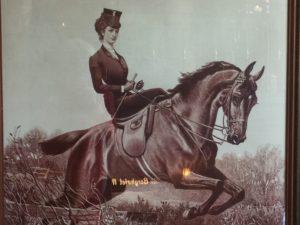 Kaiserin Sissi von Österreich im Damensattel