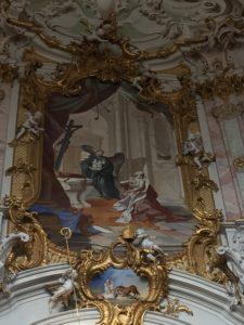 Kaiser Ludwig der Bayer übergibt dem Hl. Benedikt die Madonna für das Kloster