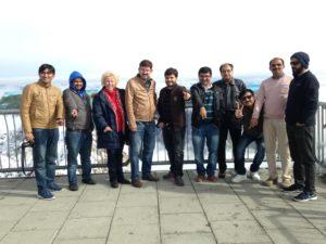 Neun Ärzte aus Pakistan auf der Zugspitze