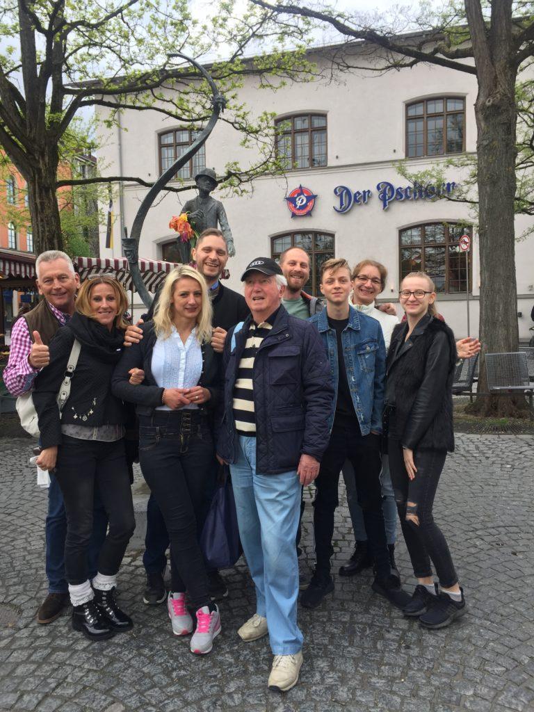 Historischer Altstadtrundgang mit Ende auf dem Viktualienmarkt am Karl-Valentin-Brunnen