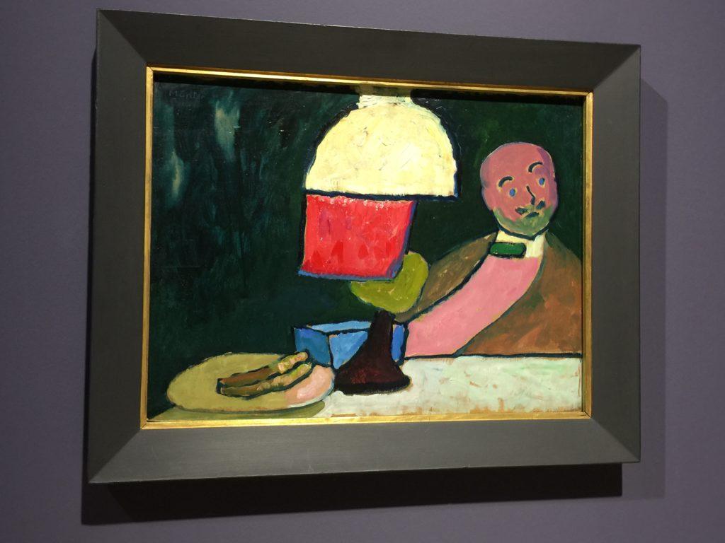 Gabriele Münter portraitiert ihren Künstlerfreund Alexander v. Jawlensky in ihrer Schwabinger Wohnung